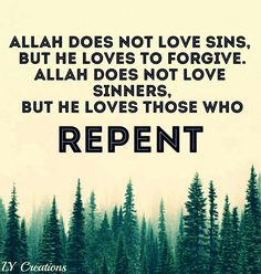 Allah does not love sins but He loves to forgive