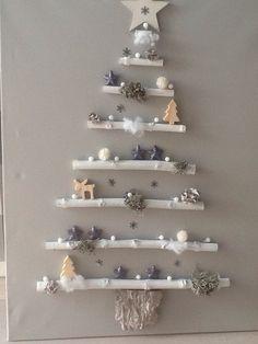 Easy DIY Christmas Decorations on a Budget Simple Tree Made Wall Christmas Tree, Bird Christmas Ornaments, Diy Christmas Decorations Easy, Pallet Christmas, Christmas Crafts, Snowman Crafts, Christmas Presents For Moms, All Things Christmas, Simple Tree