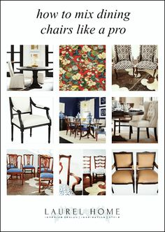 how to mix dining chairs like a pro