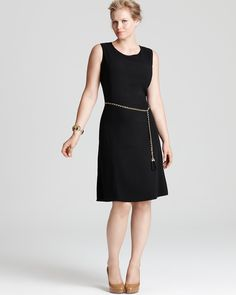 Calvin Klein Plus Fit and Flare Dress - Plus Sizes - Bloomingdale's