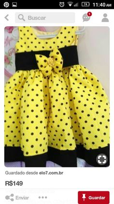 yellow and black African Dresses For Kids, Dresses Kids Girl, Little Girl Dresses, Kids Outfits, Baby Outfits, Girls Frock Design, Baby Dress Design, Baby Frocks Designs, Kids Frocks Design