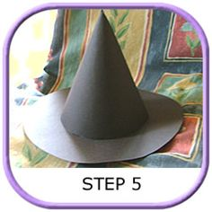A Halloween witch hat with easy to follow instructions and a downloadable template. These craft ideas are lots of fun to make, keep the kids occupied and save money.