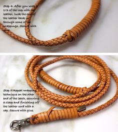make your own braided leather leash - minimal effort, great look