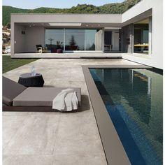 Carrelage extérieur effet pierre béton 45,5x91 Grigio Out, Patchwalk ASCOT