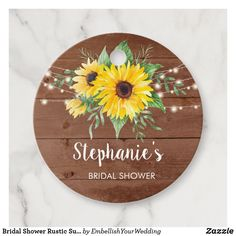 Bridal Shower Rustic Sunflower Wood Thank You Favo Favor Tags Brown Paper Packages, Bridal Shower Rustic, Favor Tags, Favors, Decorative Plates, Create, Wood, Prints, Inspiration