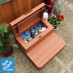 garten How to Properly Store Hot Tub Chemicals + 4 Nifty Organization Ideas! - ideas with hot tub Hot Tub Gazebo, Hot Tub Deck, Hot Tub Backyard, Backyard Playground, Backyard Patio, Hot Tub Patio On A Budget, Sloped Backyard, Patio Bar, Modern Backyard