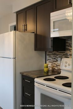 The Very Modest Budget Didnt Allow For New Appliances But White And Off Small Galley KitchensMosaic