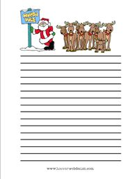 xmas writing stationary for writing prompts language arts ideas