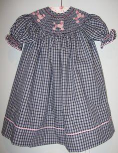 Pink Poodle Bishop Style Dress (made to order). $75.00, via Etsy.
