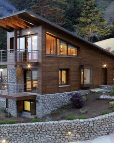 Five houses at Parnassus Mountain by Roula Kotsilati and Vangelis Hatzis - Dream House Cabana, Home Renovation, Home Remodeling, Plan Chalet, Construction, House Roof, Modern House Plans, Building A House, Building Ideas