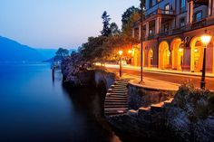 Evening at the Lakeside Villa - Como