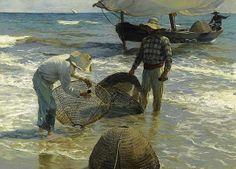Pescadores valencianos de Joaquín Sorolla.