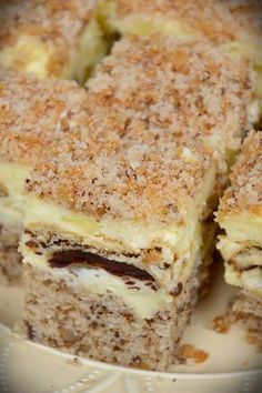 Ciasto szampańskie Croatian Recipes, Hungarian Recipes, Russian Recipes, Sweet Recipes, Cake Recipes, Dessert Recipes, Sweets Cake, Cupcake Cakes, Polish Cake Recipe