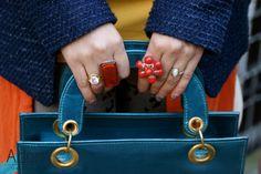 #JewellerySteetStyle #JewelleryTrends #JewelryTrends #jewelleryoftheday #jewelryoftheday #Jewellery #Jewelry #trends #Adorn #AdornLondon #MilanFashionWeek #StreetStyle #rings #flowers #red #coral #engagement