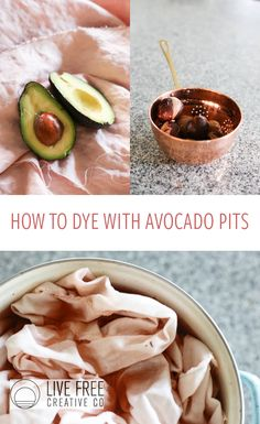 Raise your hand if you love avocados. And pink. Combine those loves with this super easy DIY for how to dye with avocado pits!
