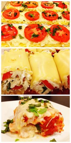Caprese Lasagna Roll Ups - I am going to try this with goat cheese