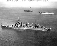 USS Arkansas in 1945