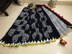 Mul cotton pom-pom lace sarees with blouse   Buy Online pom pom indigo i9 Sarees   Elegant Fashion Wear
