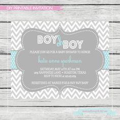 Baby Blue Boy Oh Boy Baby Shower Invitation. DIY by SouthernSwish, $15.00