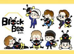 Block.B&BEEちゃん Fanart(@Tweety_Kyung) #parkkyung #zico #ukwon #bbomb #p.o #taeil #jaehyo #blockb #Block.B