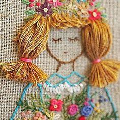 #Embroidery#stitch#needlework #프랑스자수#자수#일산프랑스자수 #행복한소녀~~