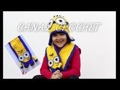 Patucos de ganchillo Minion. Minion crochet baby booties. - YouTube