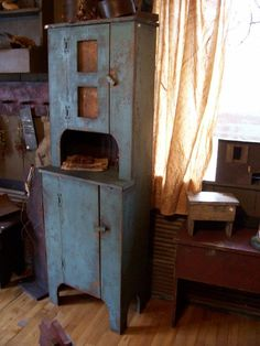 Olde Prim Blue Cupboard....
