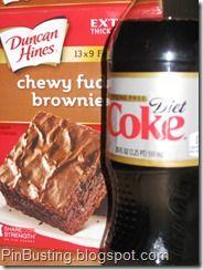 #PinBusting - diet coke brownies