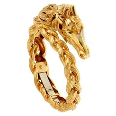 Stunning horse gold head bangle bracelet from Hermes crafted in solid yellow gold. This Hermes horse head bangle is evolves into the solid gold bracelet Solid Gold Bracelet, Gold Bangle Bracelet, Diamond Bracelets, Gold Bangles, Jewelry Bracelets, Hermes Bangle, Hermes Jewelry, Luxury Jewelry, Black Hills Gold Jewelry
