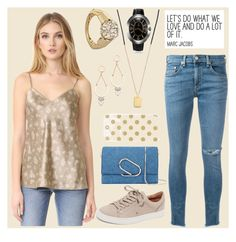 """""""Floral v neck cami fashion"""" by gadinarmada-1 ❤ liked on Polyvore featuring Vince, rag & bone/JEAN, Scosha, Avenue, Rebecca Minkoff, Frye, 3.1 Phillip Lim, Kate Spade, Toy Watch and floral"""