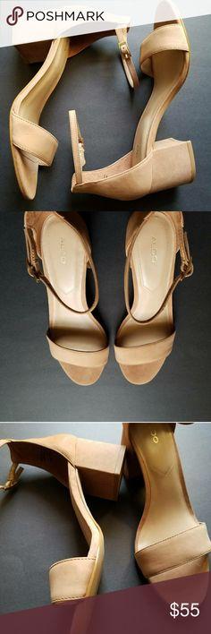"Aldo VILLAROSA COGNAC Heel HEIGHT; 2"" - HIGH POSITIVE REVIEWS  - TRUE TO SIZE - AMAZING QUALITY Aldo Shoes Sandals"