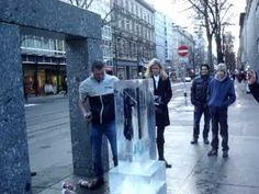 """Ch 5. Diesel Jeans launched an ambient advertising campaign called """"Be Stupid"""" where they put a pair of jeans in a block of ice with a sign saying that if a person can break open the block of ice, then they get to keep the jeans for free. Diesel had several people filming citizens' reactions and put together a compilation that went viral. This spread their brand name to not only the people who were present at the event, but also through the internet via youtube and other media channels."""