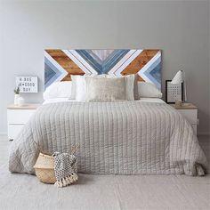 The Best 2019 Interior Design Trends - Interior Design Ideas Winter Bedroom, Home Bedroom, Bedroom Decor, King Headboard, Wood Headboard, Home Interior, Interior Design, Reclaimed Wood Wall Art, Wood Art