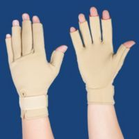 Heat therapy at your fingertips. Reduce swelling, increase circulation and improve mobility.  These light compression therapy gloves provide soothing relief for your arthritic fingers, without pills or stinky ointments. If your hands need a little extra support...but you don't want everyone to notice...these Thermoskin Warming Gloves are a perfect fit.  A neutral beige color, these high-quality hand warmers are clinically proven to increase skin temperature and help provide temporary pain...