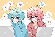 Vocaloid, Chibi, Pastel, Kawaii, Drawings, Cute, Character, Anime Guys, Anime Art