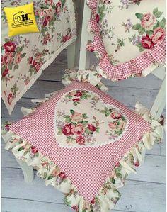 Cuscino per sedia Angelica Home & Country Collezione Rose Vittoriane