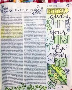 A good thought before turning in for the night. #biblejournaling #biblejournalinglife #biblejournalingcommunity #leviticus #firstfive #art #draw #paint #doodle #handlettering #megsletters #meggiedee by meggiedeehandmade
