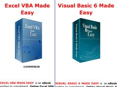 Excel Vba Made Easy And Visual Basic 6 Made Easy Review  Get Full Review : http://scamereviews.typepad.com/blog/2013/03/excel-vba-made-easy-and-visual-basic-6-made-easy-get-for-free.html