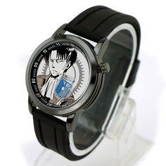 attack on titan Levi Sub-dial watch black Wristband fashion anti-water watch