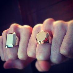 Gender Bender Emerald & Diamond Rings