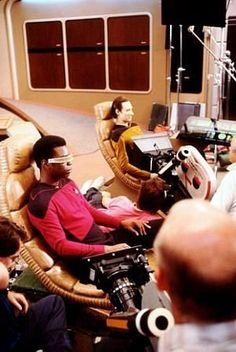 """Star Trek"" Next Generation Levar Burton, Brent Spiner 1987 Paramount"