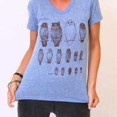 This owl lineup tee is pretty sweet!
