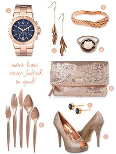I've been obsessing over rose gold for a while now. It is my new favorite metal.
