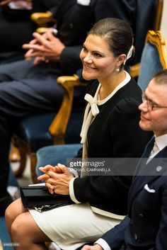 12 September 2017 - The Swedish Royal Family attend a church service held at the St. Nicholas church in connection with the opening session of the Swedish parliament - jacket by Milly