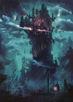 a collection of inspiration for settings, npcs, and pcs for my sci-fi and fantasy rpg games. hopefully you can find a little inspiration here, too. Fantasy City, Fantasy Castle, Fantasy Places, Fantasy World, Fantasy Concept Art, Dark Fantasy Art, Fantasy Artwork, Space Fantasy, Fantasy Art Landscapes