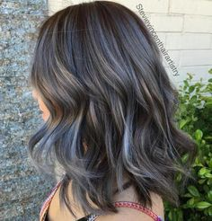 Medium Brown Hair With Gray Highlights