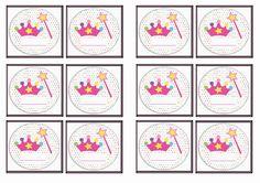FREE printable princess themed Name Tags