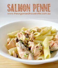 salmon-penne