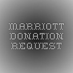 Marriott Donation Request