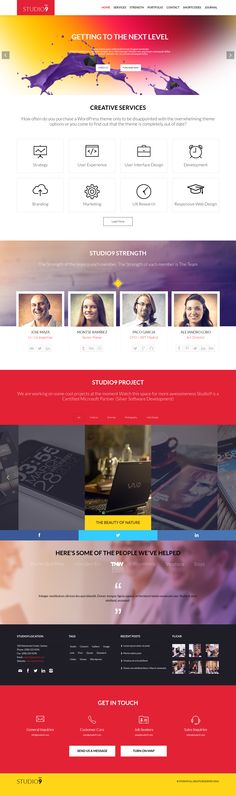 #Studio9 is a One Page #WordPress Theme. It's a multipurpose theme comes in two layout #creative and #corporate with lots of amazing features.